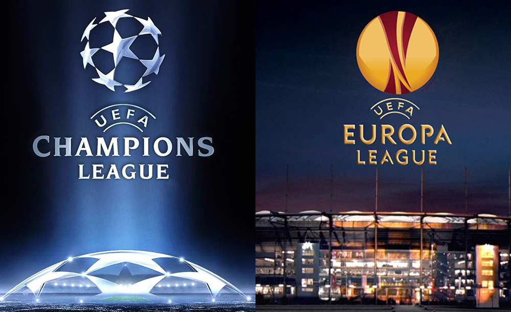 Image result for europa league and champions League