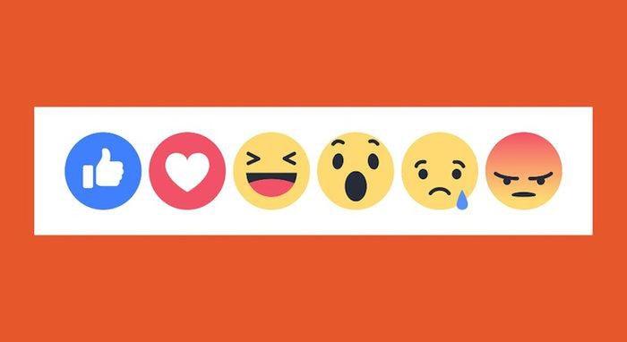 Nhóm các biểu tượng cảm xúc công khai của Facebook. (Ảnh: Mashable)