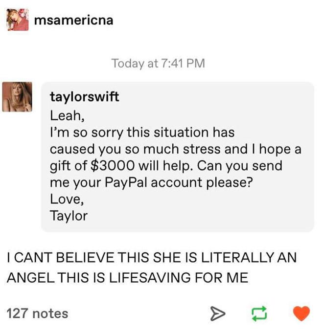 Taylor Swift và Ariana Grande giúp đỡ tài chính cho người hâm mộ trong dịch Covid-192