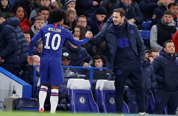 Willian luôn được HLV Lampard đánh giá cao