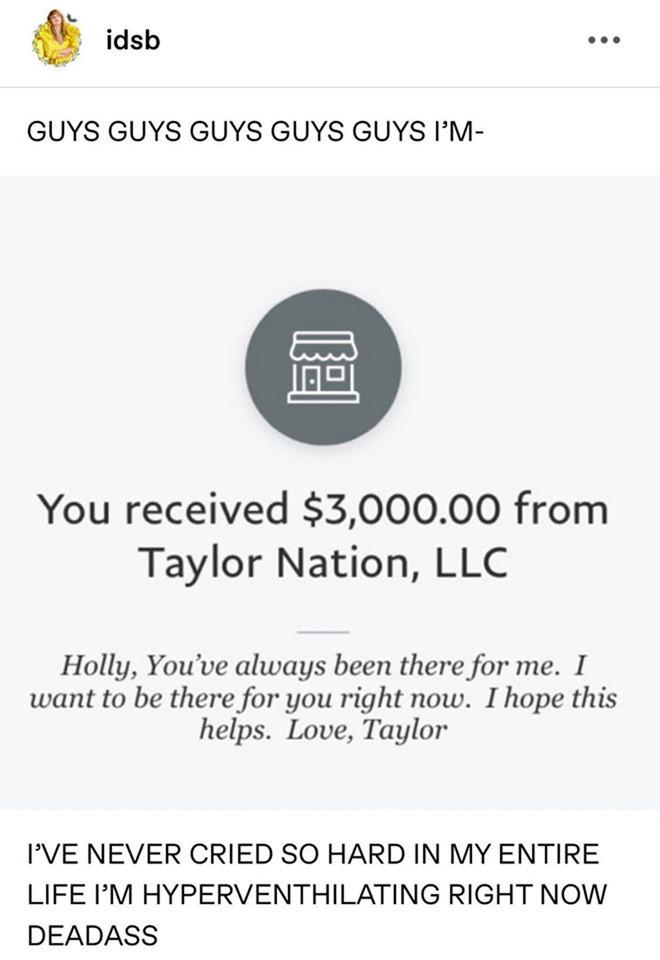 Taylor Swift và Ariana Grande giúp đỡ tài chính cho người hâm mộ trong dịch Covid-191