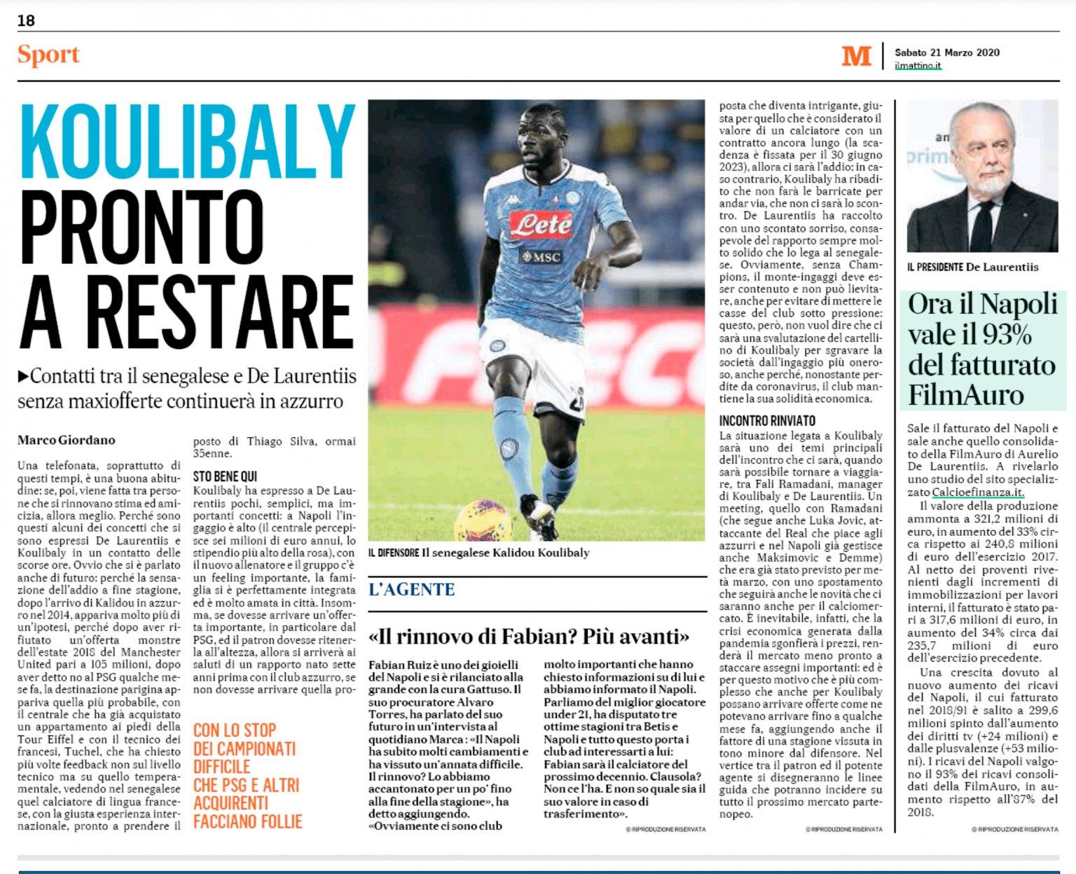 Kalidou Koulibaly happy to stay at Napoli despite Manchester United interest - Bóng Đá