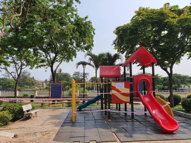 TP.HCM: Các khu tập thể dục, khu trò chơi thiếu nhi tại công viên chính thức ngưng hoạt động để phòng dịch Covid-19 - Ảnh 4.