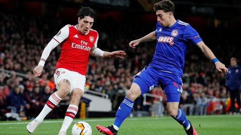 Arsenal mừng thầm khi cầu thủ Olympiakos âm tính với COVID-19