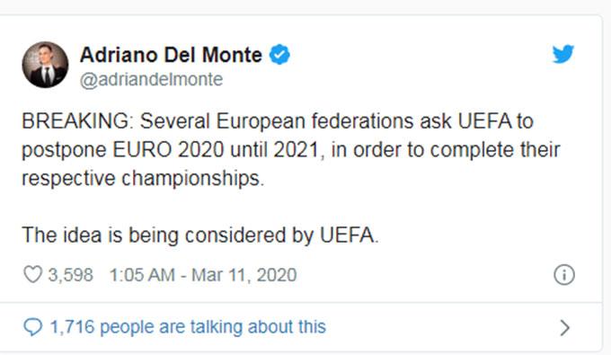 Thông tin gây sốc vừa được Adriano Del Monte chia sẻ