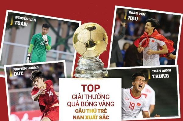 Top 4 cầu thủ trẻ nam xuất sắc Việt Nam 2019.