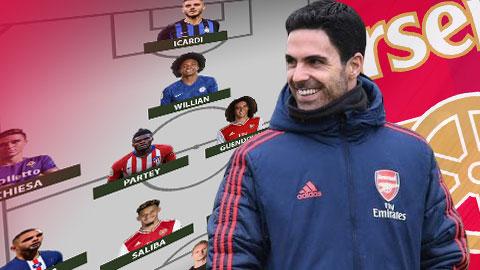 Đội hình Arsenal thế nào nếu có được mọi mục tiêu chuyển nhượng?