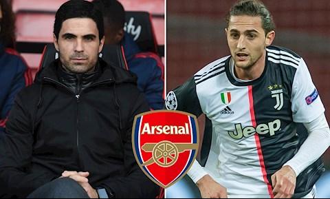 Arsenal muốn mua tiền vệ Adrien Rabiot của Juventus hình ảnh