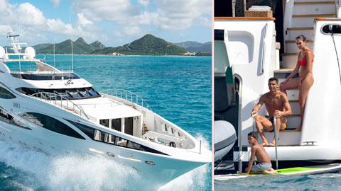 CR7 vô đối  về chi tiền thuê  du thuyền