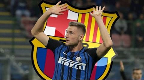 Barca nghĩ ra phương án chiêu mộ trung vệ Milan Skriniar hình ảnh