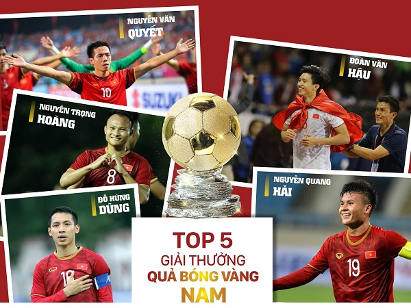 Top 5 Quả bóng vàng nam Việt Nam 2019.