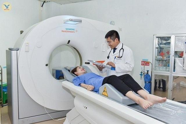 Bệnh viện Đa khoa MEDLATEC đưa máy chụp CT 128 dãy của Đức vào phục vụ người dân. Ảnh: MEDLATEC