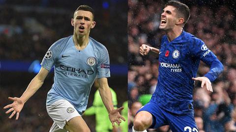 Pulisic phải) hay Foden (trái) của Man City đều là những cầu thủ dự bị siêu hạng