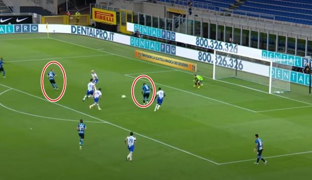 Nhìn lại pha bóng xứng đáng đưa vào SGK của dàn sao Inter Milan - Bóng Đá