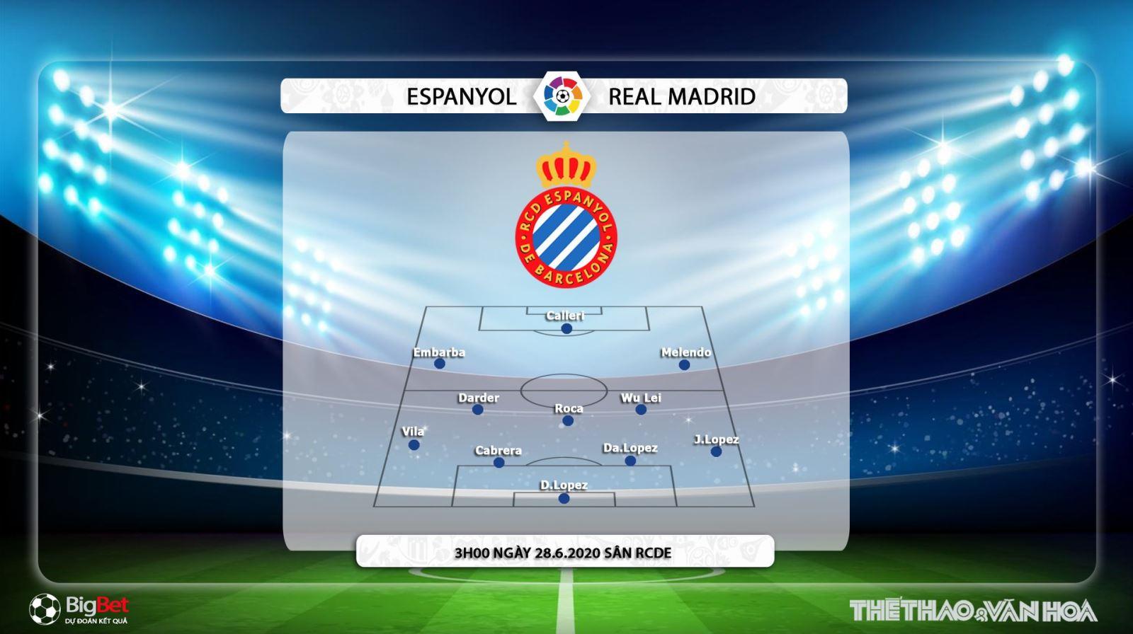 Keo nha cai, kèo nhà cái, Espanyol vs Real Madrid, Trực tiếp bóng đá Tây Ban Nha, Bóng đá TV, BĐTV, soi kèo Real Madrid đấu với Espanyol, lịch thi đấu bóng đá Tây Ban Nha