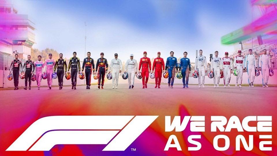 Hình ảnh được sử dụng của chiến dịch We Race As One. Ảnh: F1