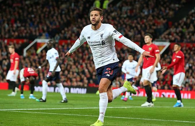 Lallana là người hùng của Liverpool trước Man United