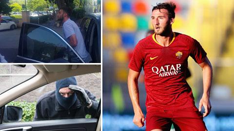 Cầu thủ Roma đấm cướp như phim hành động