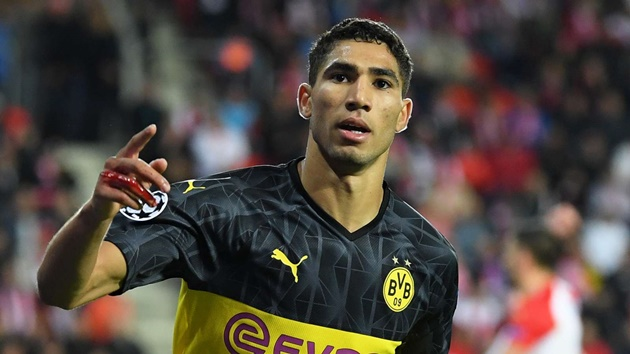 Dortmund will have to be patient over plan to keep Real Madrid's Hakimi - Kehl - Bóng Đá