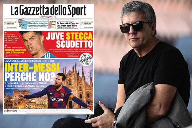 Tin đồn Messi đến Serie A đấu Ronaldo: Sếp Inter Milan làm rõ thực hư - 1