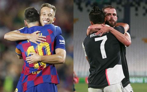 Arthur (trái) tạm biệt Messi sang Juve, ngược lại Pjanic cũng tạm biệt Ronaldo sang Barca