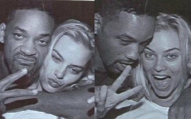 Margot Robbie tham gia chương trình The Tonight Show with Jimmy Fallon và làm dấy lên nghi vấn tình cảm với Will Smith. Ảnh: chụp màn hình