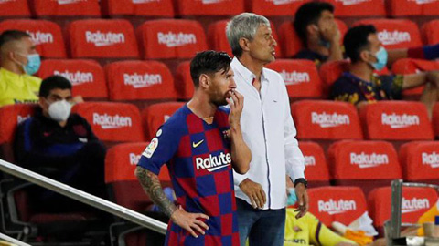 HLV Setien bình thản trước cơn điên của Messi