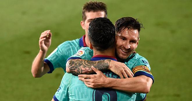 Ket qua bong da, Villarreal vs Barcelona, Bảng xếp hạng La Liga, Cuộc đua vô địch, Villarreal 1-4 Barcelona, video Villarreal 1-4 Barcelona, Messi, Griezmann, kqbd, Barca