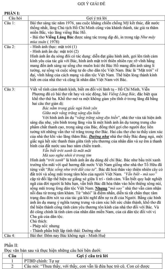 Tuyển sinh lớp 10 Hà Nội: Đã có gợi ý giải đề thi môn văn - ảnh 2