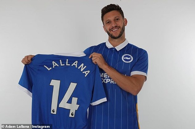 Brighton complete signing of Adam Lallana from Liverpool on three ...