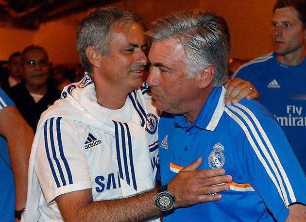 'I'm going to break the rules to hug him': Jose Mourinho can't wait to see Carlo Ancelotti before Spurs vs Everton - Bóng Đá