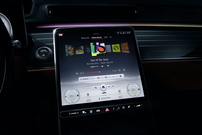 Mercedes S-Class 2021 thay toàn bộ nút bấm bằng màn hình  - ảnh 1