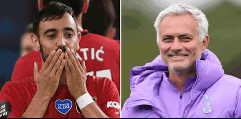 HLV Mourinho phát biểu sốc về tiền vệ Bruno Fernandes hình ảnh