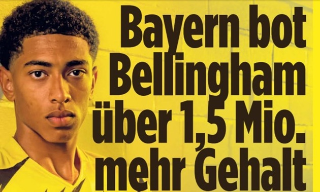 Bayern made big offers in the past few weeks to hijack Jude Bellingham's move to Dortmund - Bóng Đá