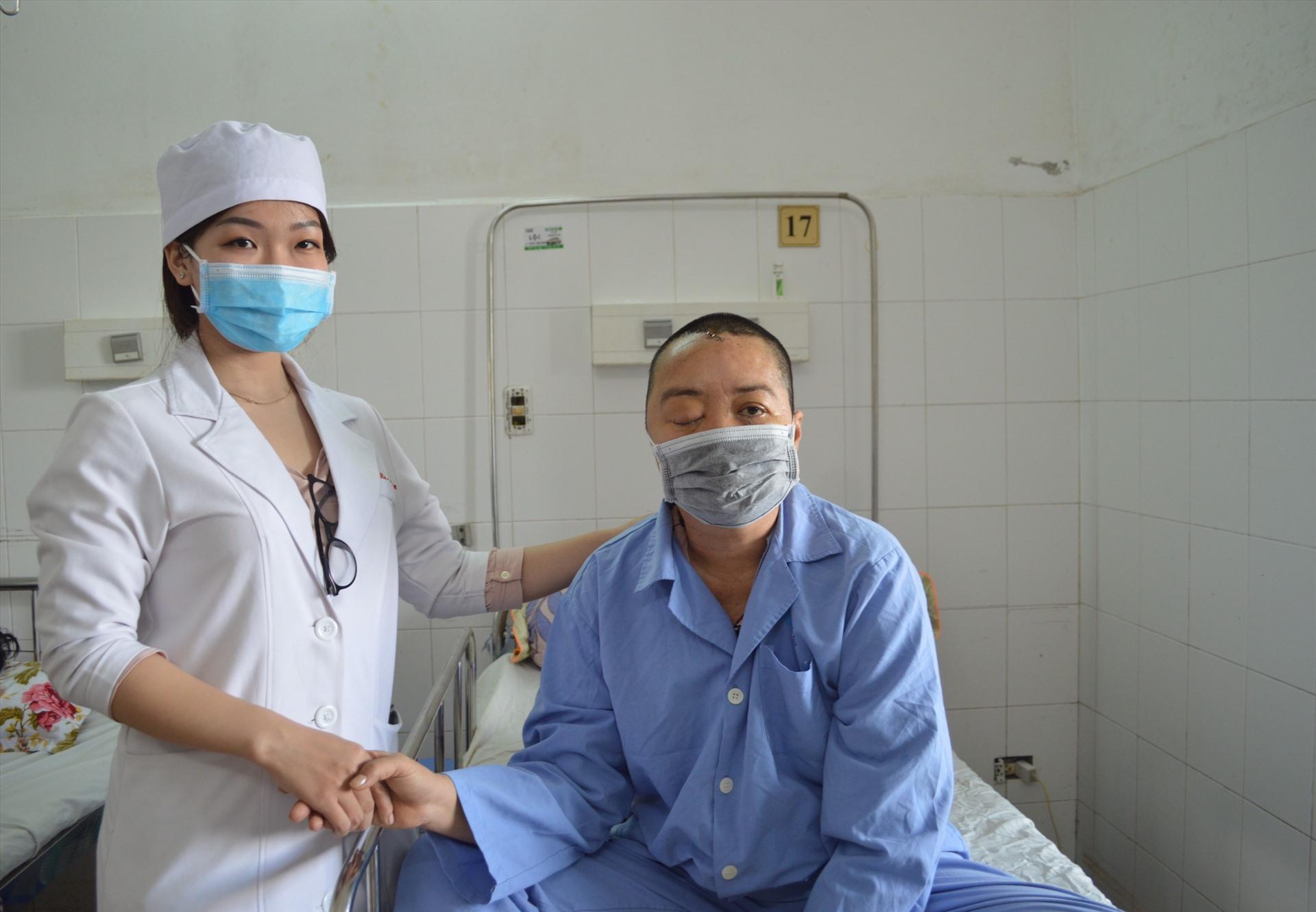 Hiện tại sức khỏe bệnh nhân đã được ổn định. Ảnh: Bệnh viện cung cấp.