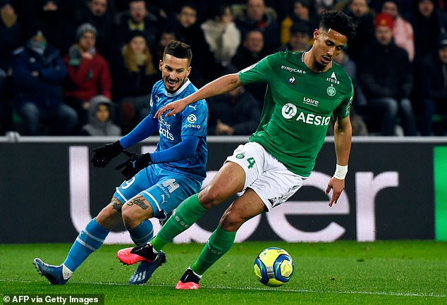 William Saliba was bought by Arsenal last year but has spent season back with Saint-Etienne
