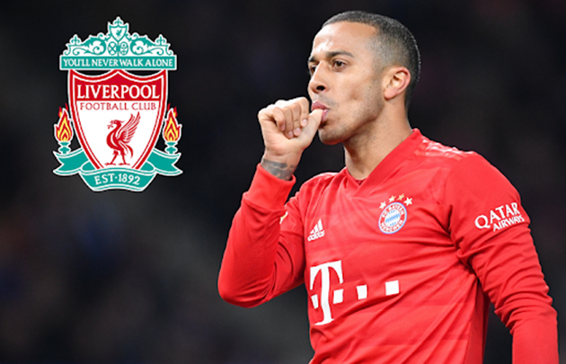 Bayern are demanding €40m for Thiago, while Liverpool are only willing to offer €20m - Bóng Đá