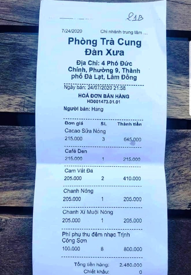 Hơn 200.000 đồng/ly nước ở một phòng trà tại Đà Lạt, có phải 'chặt chém'? - ảnh 1