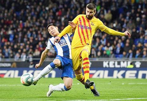Espanyol đã cách nhóm an toàn tới 11 điểm