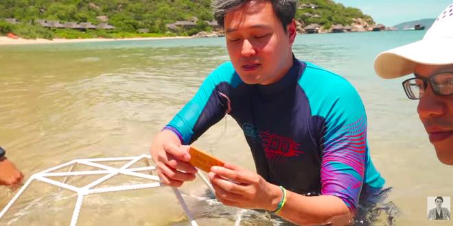 Quang Vinh, Phạm Quỳnh Anh bị 'ném đá' vì ngồi lên san hô ở Phú Quốc - ảnh 1