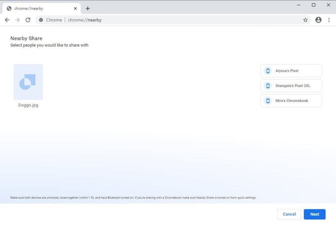 Google mang Nearby Share lên Windows - ảnh 1